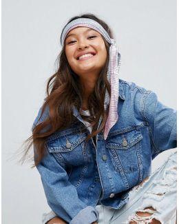 Silver Pleat Headscarf