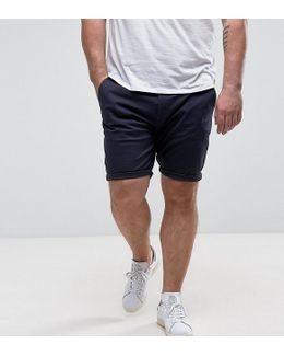 Plus Skinny Chino Shorts In Navy