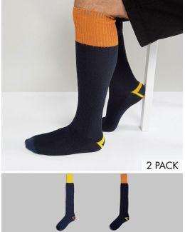 Festival Waffle Welly Socks 2 Pack