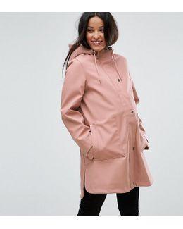 Premium Rain Coat With Borg Lining