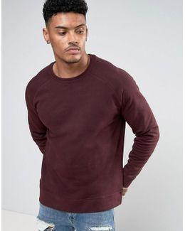 Sweatshirt In Burgundy