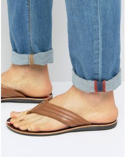 Torence Leather Flip Flops