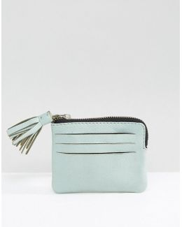 Leather Coin Purse With Tassel