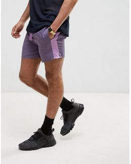Slim Runner Shorts With Contrast Side Stripe In Purple