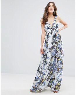Kiki Palm Printed Maxi Dress