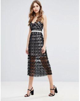 Tassel Strappy Midi Dress