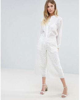 Vacation Lace Flared Pants