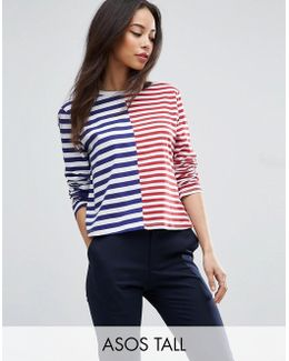 T-shirt In Boxy Fit And Cut About Stripe