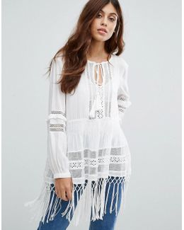 Lola Lace Smock Top