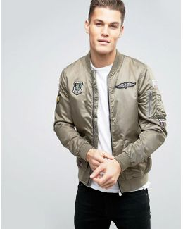 Military Patches Bomber Jacket