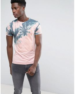 Pink And Blue Palm T-shirt