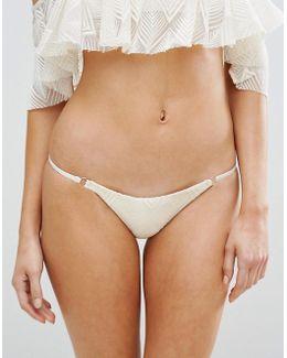 Bridal Lace Bikini Bottom