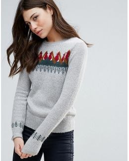 Rupert Robin Mohair Mix Knit Jumper