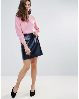 Arctic Gloss Mini Skirt