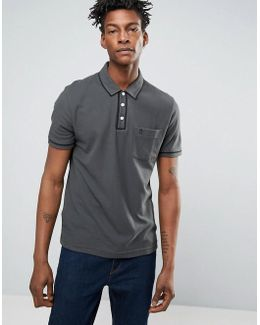 Slim Fit Pocket Polo Shirt With Tipping