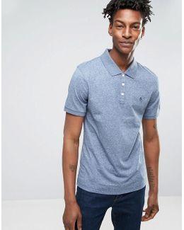 Slim Fit Cotton Rib Polo Shirt