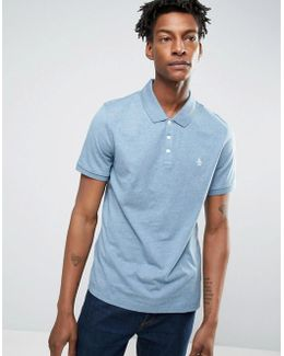 Slim Fit Cotton Rib Polo Shirt