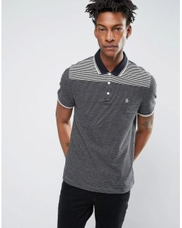 Jacquard Slim Fit Polo Shirt