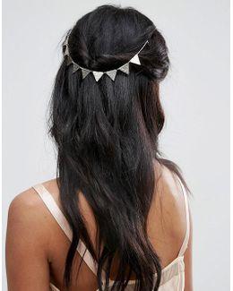 Bunting Back Hair Crown