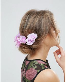 Statement Lily Rose Back Hair Clips