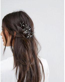 Bridal Bead Back Hair Piece