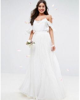 Wedding Embellished Maxi Tulle Skirt