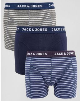 Trunks 3 Pack With Stripe