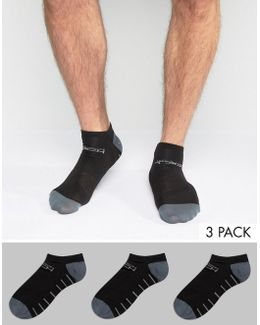 Tech Sports Trainer Socks 3 Pack