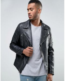 Barneys Leather Biker Jacket
