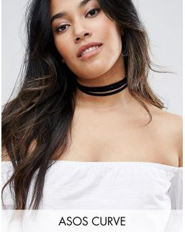 Velvet Wrapped Choker Necklace