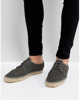 Exclusive For Asos Lace Up Mesh Espadrilles