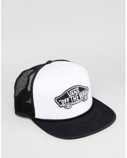 Classic Patch Trucker In White Vh2vyb2