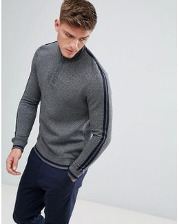 Quilted Funnel Neck