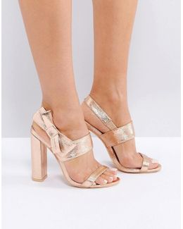 Bow Side Heeled Sandal