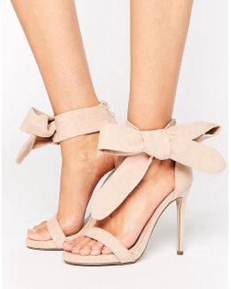 Barely There Tie Side Sandals