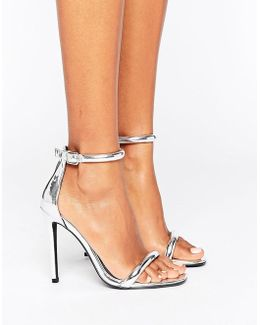 Barely There Ankle Strap Heeled Sandals