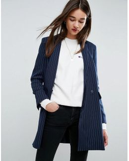 Clean Blazer In Pinstripe