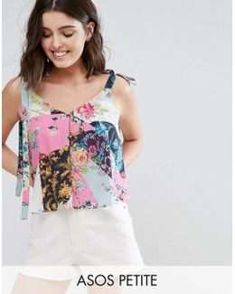 Swing Cami With Tie Shoulder In Hero Mixed Print