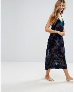 Burnished Floral Slip Dress