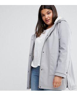 Premium Raincoat With Borg Liner