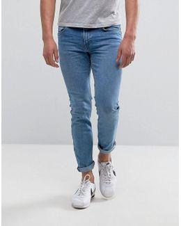 Man Skinny Jeans In Light Wash Blue