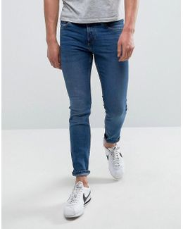 Man Skinny Jeans In Mid Wash Blue