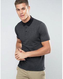 Man Polo Shirt In Black