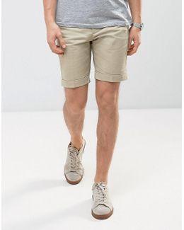 Man Chino Shorts In Beige