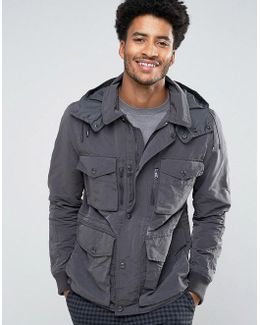 Man Military Jacket In Gray