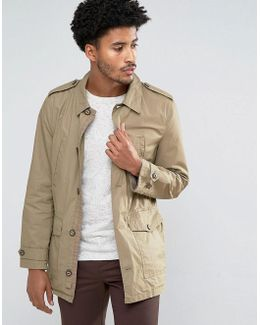 Man Military Jacket In Tan