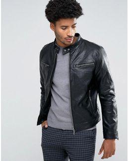 Man Biker Jacket In Black