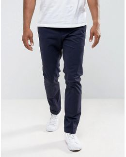 Man Slim Fit Chinos In Navy