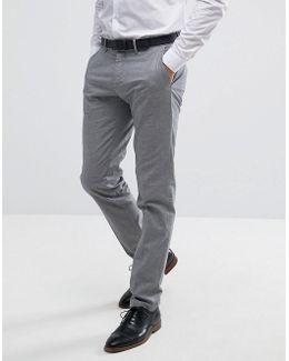 Man Slim Fit Smart Pants In Gray Check