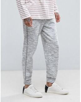 Man Slim Fit Joggers In Light Gray